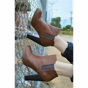 """Madden Girl """"Zelouss"""" Brown Heeled Ankle Boots"""